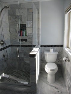 Shower, half wall