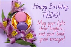 happy birthday twins wishes quotes 1 image Twins Birthday Quotes, Happy 18th Birthday Quotes, Mother Birthday Quotes, Happy Birthday Wishes For A Friend, Birthday Prayer, Happy Birthday Pictures, Happy Birthday Sister, 17 Birthday, Twins Birthday Wishes