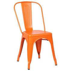 Trattoria Side Chair in Orange (Set of 2)