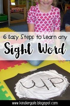 These activities help kindergarten kids master sight words in 6 easy steps.  The free printables include a list of sight words that are ready to print and use. Can��t wait to use the cute word wall parking lot!