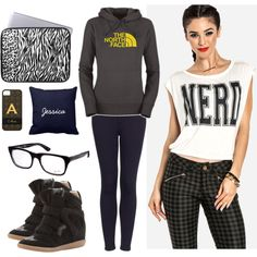 Nerdy Pretty by jaclinartfan302 on Polyvore featuring мода, Topshop, Isabel Marant, Ray-Ban and jaclinart