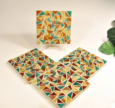 stained glass mosaic coaster