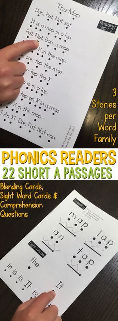 Phonics Readers for the Short A Word Family are perfect for students who are learning to read with phonics patterns. They are highly controlled passages that only contain words within that word family or within a previously taught word family. Includes 22 short a passages in two formats, a decoding and sight word page, word cards with clipart, and a comprehension page for each story.