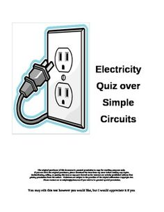 Please Note: This is my the most popular test in my store!Your class has just finished an investigation on the flow of electricity using a batt...