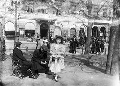 Girl selling lottery tickets, Esplanadi Park Helsinki Finland circa 1900.