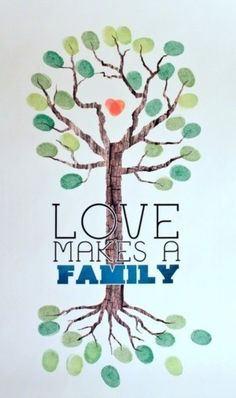 I love the family tree consisting of both branches and roots...