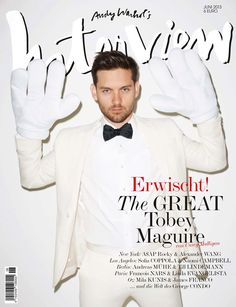 INTERVIEW GERMANY JUNE 2013, Tobey Maguire by Terry Richardson.
