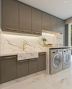 Stacked Washer Dryer, Laundry Room, Washing Machine, 3 D, Kitchen Design, Instagram, Kitchen Cabinets, Home Appliances, Architecture