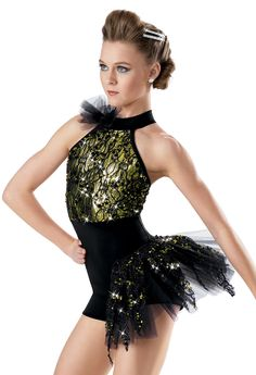 Sequin Lace Bustle Biketard -Weissman Costumes