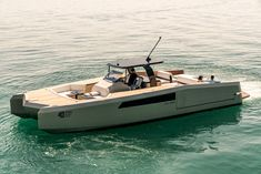 Sunreef Yachts presented the first open catamaran concept in 2014 during the Cannes Yachting Festival. Since that time company's engineers and designers Yatch Boat, Pontoon Boat, Yacht Design, Boat Design, Sunreef Yachts, Power Catamaran, Runabout Boat, Buy A Boat, Sport Boats
