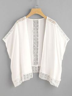 f1394339f Shop Hollow Out Contrast Crochet Lace Top online. SheIn offers Hollow Out  Contrast Crochet Lace Top   more to fit your fashionable needs.