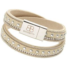 Boho Betty Studded Wrap Bracelet ($22) ❤ liked on Polyvore featuring jewelry, bracelets, bohemian jewellery, boho chic jewelry, clear jewelry, studded jewelry and boho style jewelry