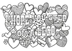 Cute insult calming coloring page with ornaments. by PaperBro