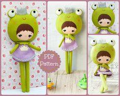 Princess frog doll. Plush Doll Pattern Softie Pattern by Noialand