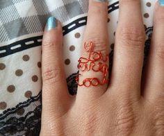 DIY Word rings #diy #rings #diyrings