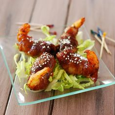 Nibble Me This: Grilled Bacon Wrapped Shrimp Appetizer