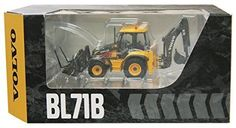 New MOTORART Volvo Backhoe Loader BL71B 1/50 Diecast Model From Japan 206 #Motorart #Volvo