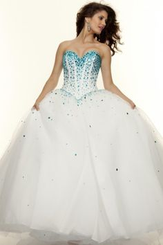2014 Sweetheart Prom Dresses A Line Floor Length Beaded Bodice With Tulle Skirt