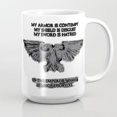 Off Totes, Mugs, Pouches, Phone Cases and All Stocking Stuffers - Free Shipping on Every Order - Ends Tonight at Midnight PT!  Emperors Aquila Eagle - WH40k Mug