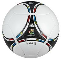 The Adidas Tango 12. The latest Tango football and the official match ball for the Euro 2012 championship finals.