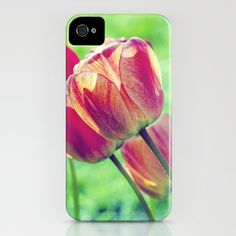 Lighted Tulips iPhone Case by Laura George - $35.00