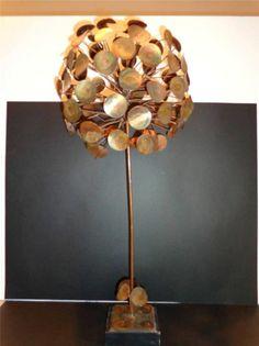 "Vintage Mid Century Jere Raindrop Dandelion Tree Sculpture 26"" $720"