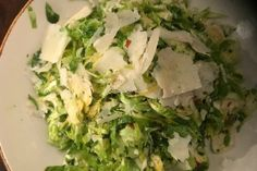 This Brussels sprouts salad is simple, yet delicious.