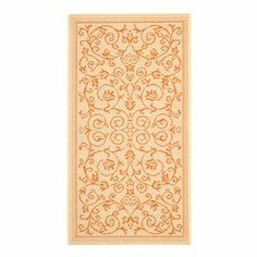 Loomed in Turkey, this lovely indoor/outdoor rug showcases an elegant scrolling leaf motif.  Product: RugConstruction Material: PolypropyleneColor: Natural and terraFeatures: Made in  TurkeySuitable for indoor and outdoor use Note: Please be aware that actual colors may vary from those shown on your screen. Accent rugs may also not show the entire pattern that the corresponding area rugs have.Cleaning and Care: Sweep, vacuum or rinse off with a garden hose KD Rug