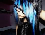 Black & Blue Hair