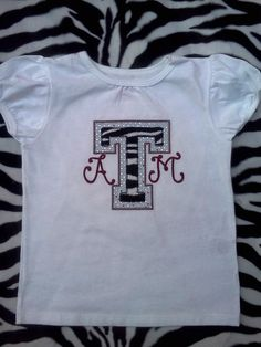 Gig 'Em!  Onesie and t-shirts, perfect for little aggies!