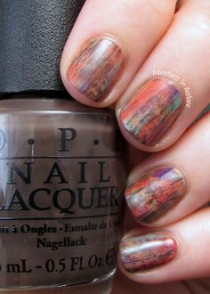 Adventures In Acetone: Distressed Nail Art with OPI Nordic Collection!