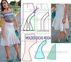 Sensational Tips Sewing Pattern Ideas. Brilliantly Tips Sewing Pattern Ideas. Sewing Clothes, Diy Clothes, Clothes For Women, Skirt Patterns Sewing, Clothing Patterns, Pattern Skirt, Skirt Fashion, Diy Fashion, Dressmaking