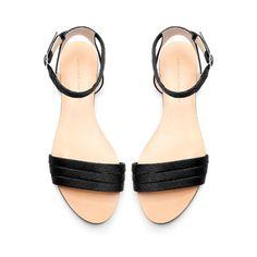 SILK SATIN VAMP FLATS from Zara