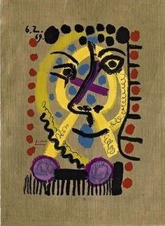 Picasso / One plate from Les Portraits Imaginaires