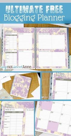 The Ultimate Blogging Planner {Guest Post} | Skip To My Lou