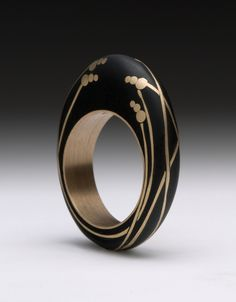 Modern black inset ring