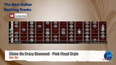 Shine Crazy Diamond Pink Floyd Guitar Backing Track