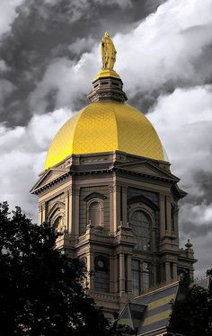 Golden Dome by longbowsnyper The University of Notre Dame