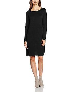 34 (Manufacturer size: X-Small), Black, ESPRIT Women's 106eo1e002-Regular Fit Dr