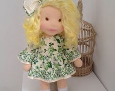 Vera Waldorf doll Waldorf inspired ooak art doll от teplotaDOLLS
