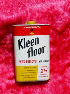 Vintage Tin Johnsonu0027s Kleen Floor Wax Remover Cleaner Pint Tin Advertising  Can #Johnsons This Item