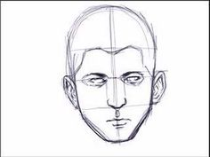 10 min but can be speeded up.  Interesting computer drawing video.  Sketching a Face- Basic Proportions