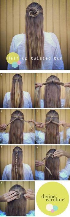 twisted-half-bun-hun-hair-tutorial-hacks-how-to-2.jpg 400×1,230 pixeles