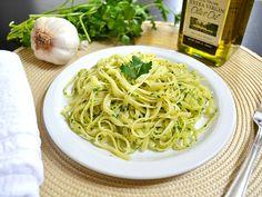 Parsley Pesto Pasta - BudgetBytes.com