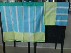 Blue x green napkin