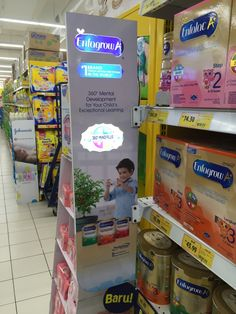 Enfagrow Shelf Banner Display with light