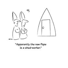 @shedworking You were looking for a Pope - shed connection, I believe …