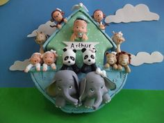 Arca de Noé Menino ( isopor e biscuit)