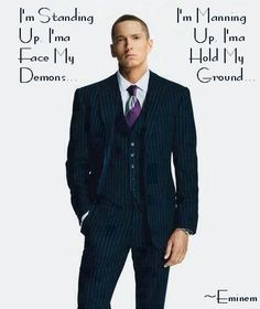 Not Afraid-Eminem sexy in a suit ;)