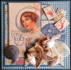 "carte en scrap, ""you are my Anchor"" de AuxPetitsArtistes sur DaWanda.com"